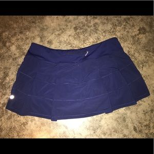 lululemon athletica Skirts - Navy Pace Rival Skirt - Tall, Size 12